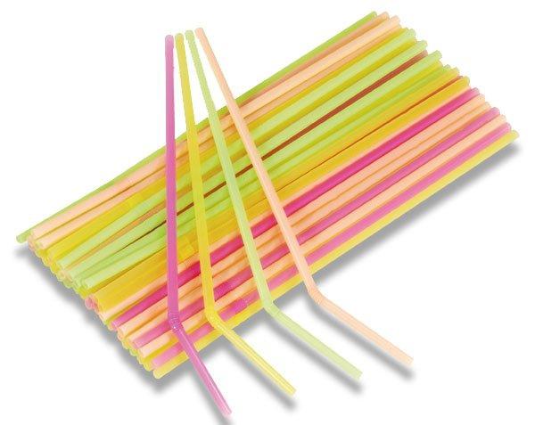 Školní a výtvarné potřeby - Brčka - neonová 40 ks