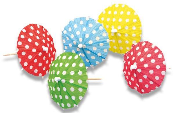 Školní a výtvarné potřeby - Deštníčky průměr 10 cm