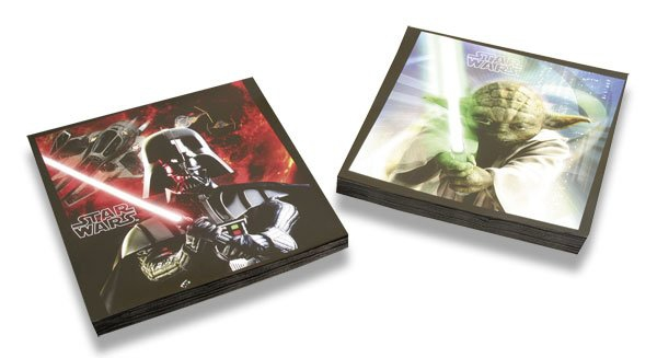 Školní a výtvarné potřeby - Papírové ubrousky Star Wars 33×33 cm, 20 ks