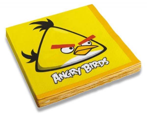 Školní a výtvarné potřeby - Papírové ubrousky Angry Birds 33 x 33 cm, 20 ks