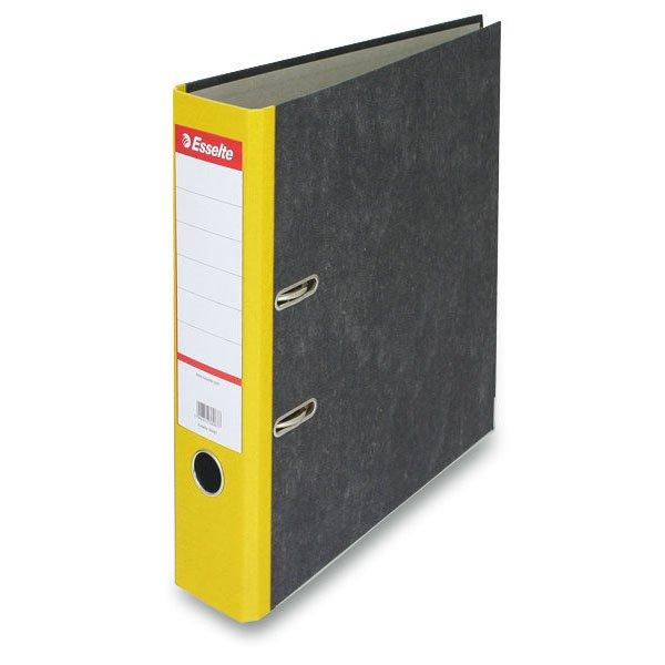 Třídění a archivace - Pákový pořadač Esselte Mramor žlutý