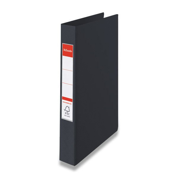 Třídění a archivace - 4kroužkový pořadač Esselte černý