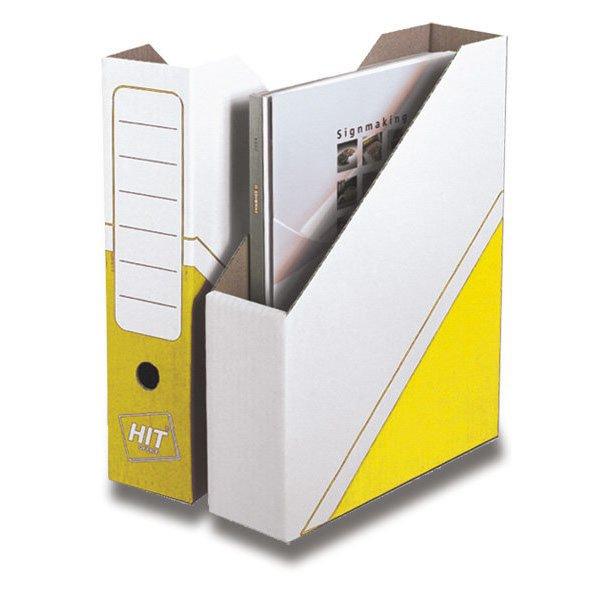 Třídění a archivace - Magazin box Hit Office - archivační box žlutý