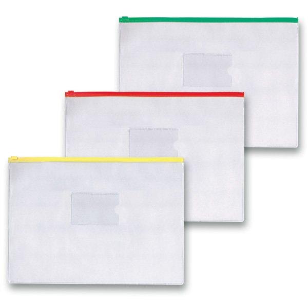 Třídění a archivace - Kapsa FolderMate na zip A4, transparentní, mix barev