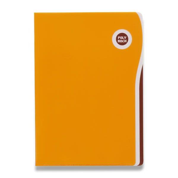 Třídění a archivace - Zakládací desky Poly Rock A6 oranžové, A6