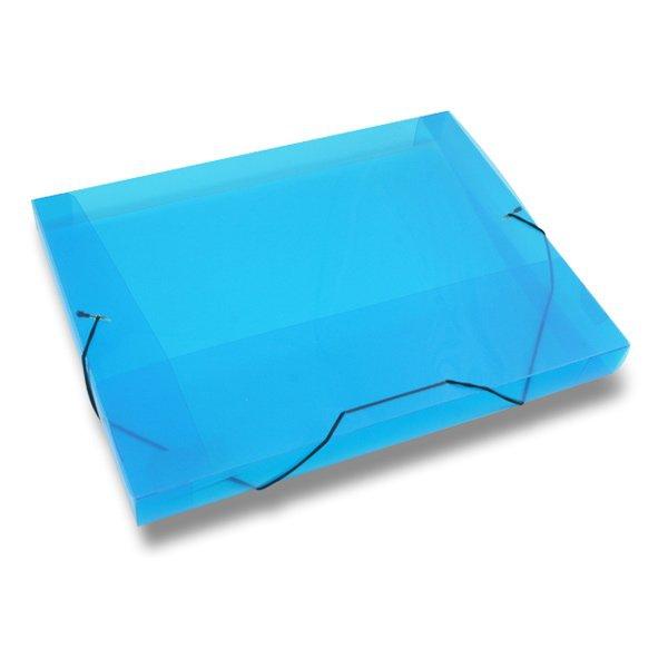 Třídění a archivace - Box na dokumenty Transparent modré