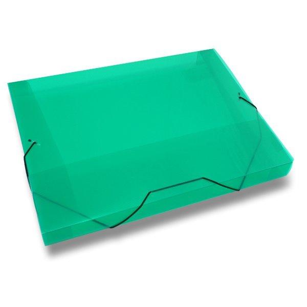 Třídění a archivace - Box na dokumenty Transparent zelené