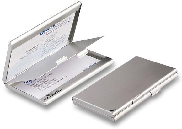Třídění a archivace - Zásobník na vizitky Durable - stříbrný na 2 x 10 vizitek
