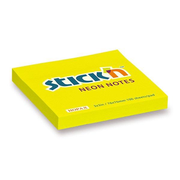 Papír tiskopisy - Samolepicí bloček Hopax Stick'n Notes žlutý