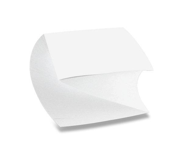 Papír tiskopisy - Poznámkový bloček spirála - lepený 90 × 90 × 50 mm, 500 listů