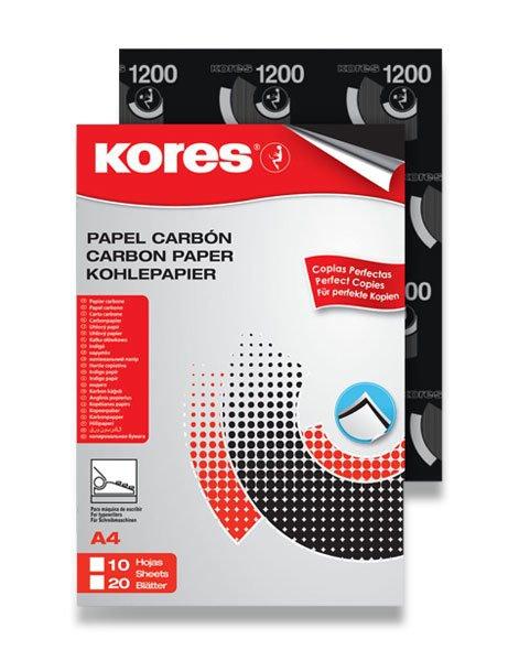Papír tiskopisy - Uhlový papír Kores Carbonet - černý 20 listů