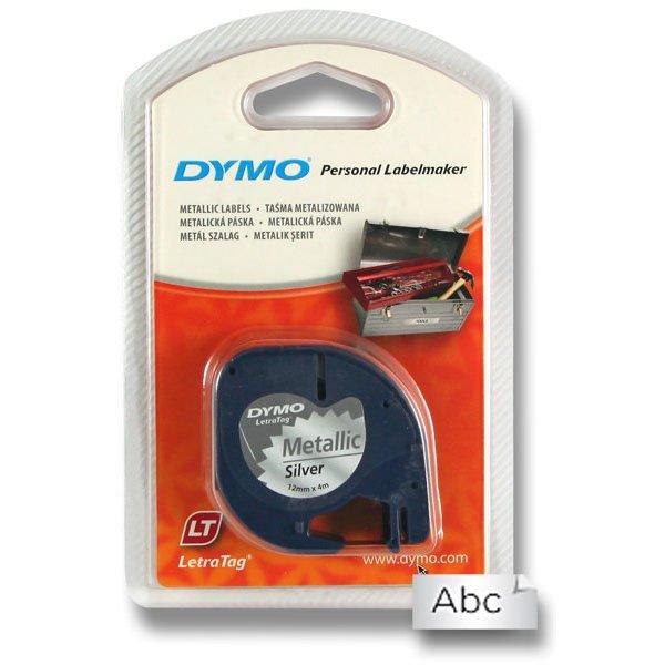 Kancelářské potřeby - Pásky Dymo pro štítkovač LetraTag stříbrná metalická