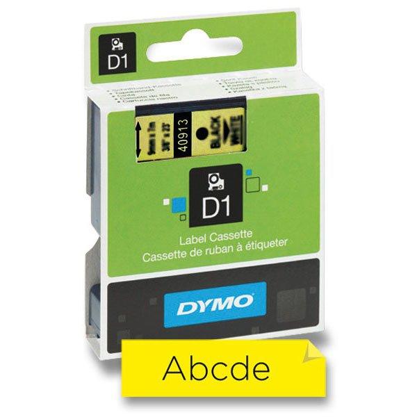 Kancelářské potřeby - Samolepicí polyesterové pásky Dymo pro štítkovače černá / žlutá
