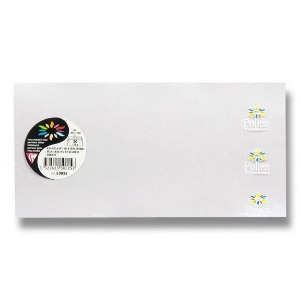 Papír tiskopisy - Obálka Clairefontaine perleťová perleťová růžová, DL