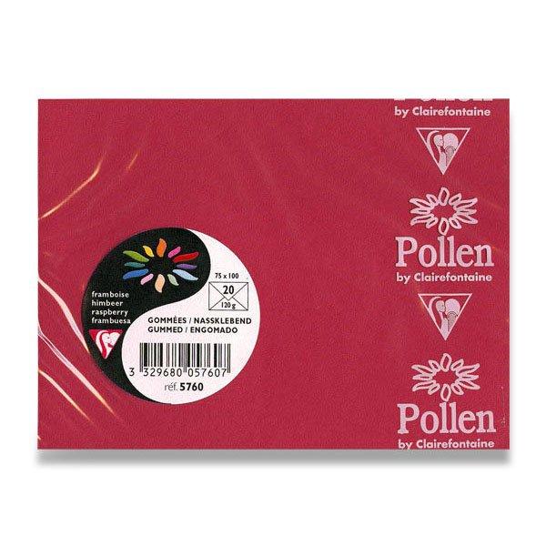 Papír tiskopisy - Barevná obálka Clairefontaine červená, 75 x 100 mm