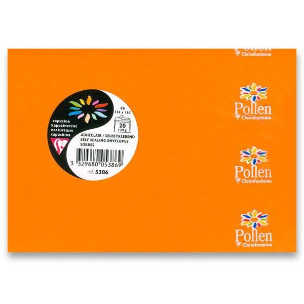 Papír tiskopisy - Barevná obálka Clairefontaine sytě oranžová, C6