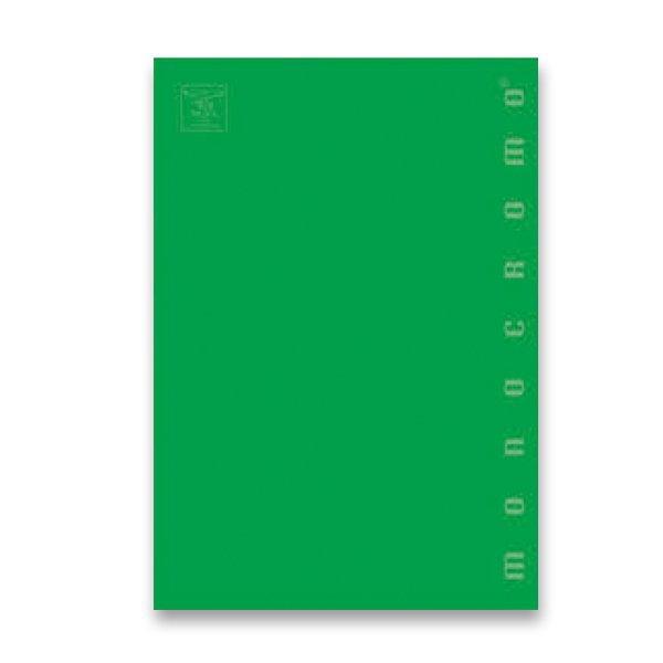 Školní a výtvarné potřeby - Školní sešit Pigna Monocromo A5, čtverečkovaný, 40 listů, mix barev