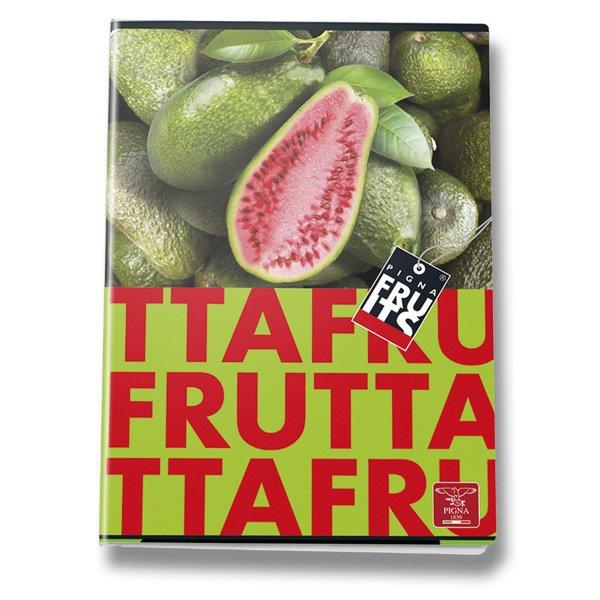 Školní a výtvarné potřeby - Školní sešit Pigna Fruits A4, linkovaný, 40 listů, mix motivů