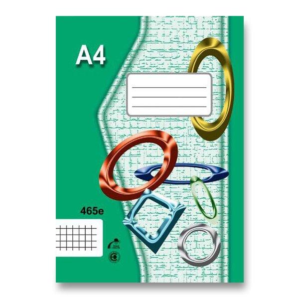 Školní a výtvarné potřeby - Školní sešit EKO 465 A4, čtverečkovaný, 60 listů