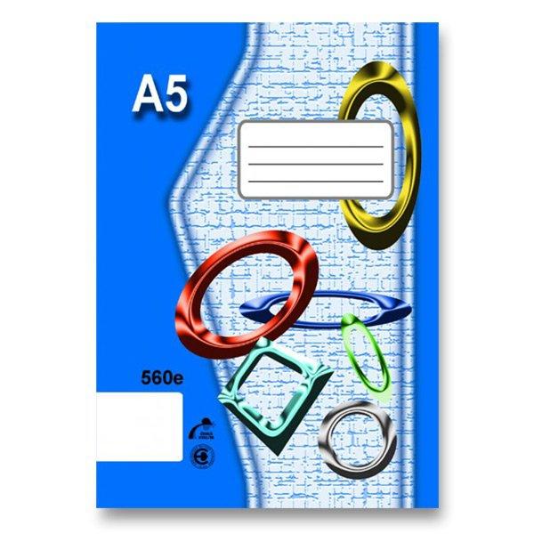 Školní a výtvarné potřeby - Školní sešit EKO 560 A5, čistý, 60 listů