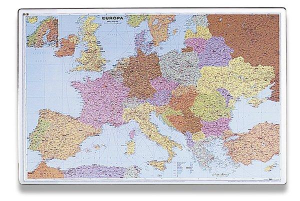 Školní a výtvarné potřeby - Podložka na stůl - mapa Evropy 60 x 40 cm