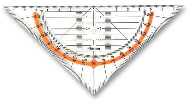 Psací potřeby - Geometrický trojúhelník Rotring Cento přepona 16 cm