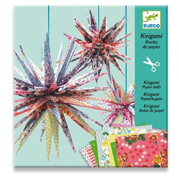 Školní a výtvarné potřeby - Kirigami Djeco - Papírové hvězdy