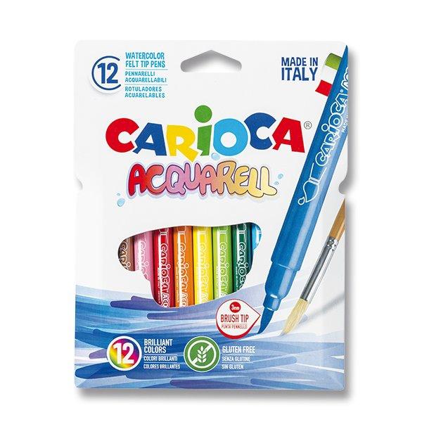 Psací potřeby - Fixy Carioca Acquarell 12 barev