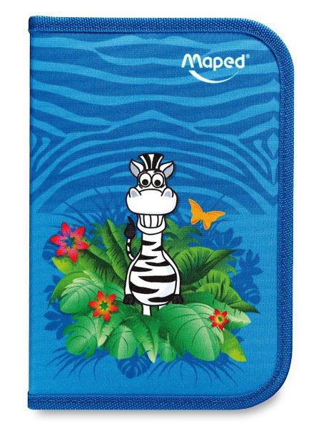 Školní a výtvarné potřeby - Penál Maped Tatoo 1patrový, vybavený, motiv Jungle