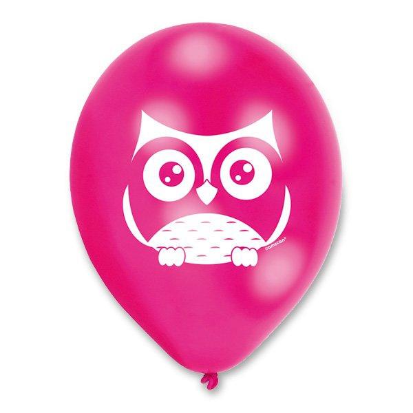 Školní a výtvarné potřeby - Nafukovací balónky Happy Owl 6 ks