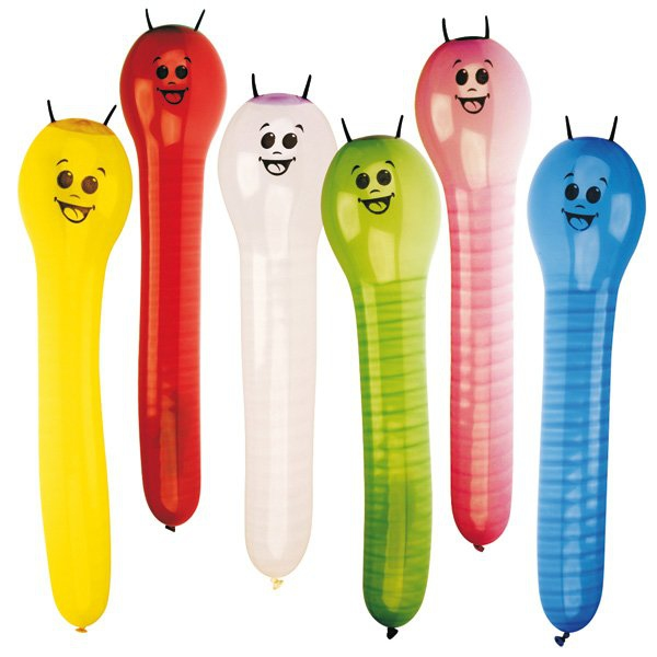 Školní a výtvarné potřeby - Nafukovací balónky Caterpillar 6 ks
