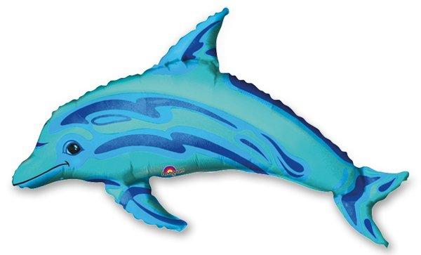 Školní a výtvarné potřeby - Fóliový party balónek 3D - Delfín