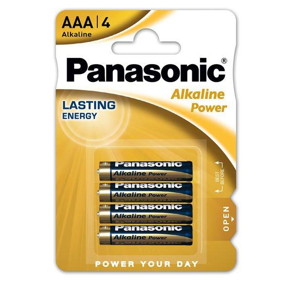 Kancelářské potřeby - Baterie Panasonic Alkaline Power AAA, 4 ks
