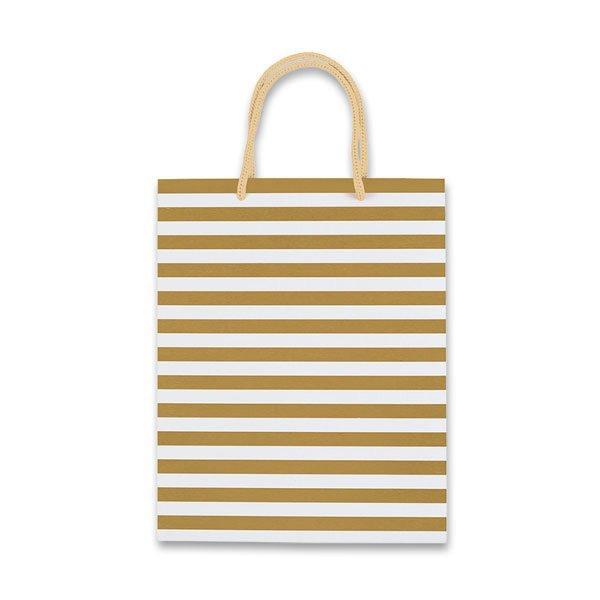 Obalový materiál drogerie - Dárková taška Stripes zlatá