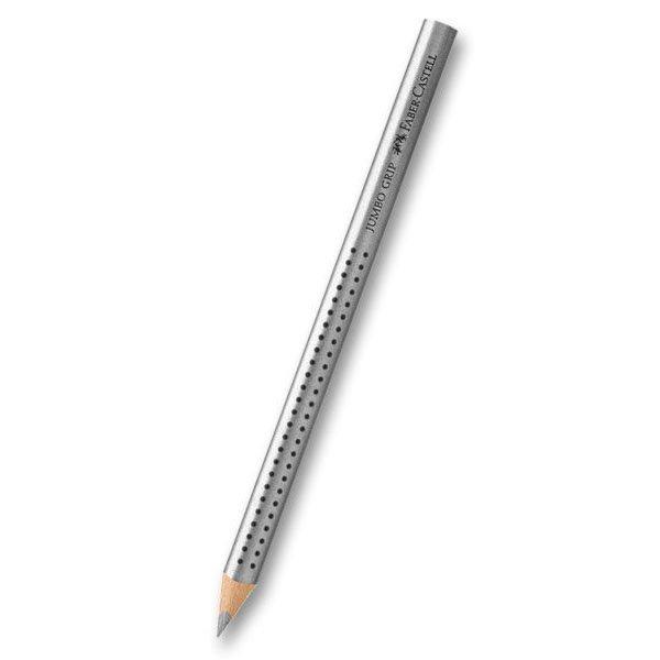 Psací potřeby - Pastelka Colour Grip Jumbo Metallic stříbrná