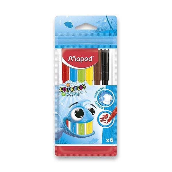 Psací potřeby - Dětské fixy Maped Color´Peps Ocean 6 barev