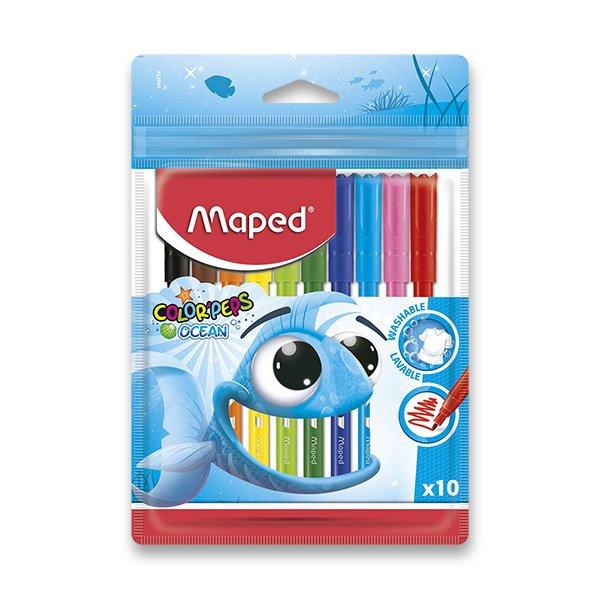 Psací potřeby - Dětské fixy Maped Color´Peps Ocean 10 barev