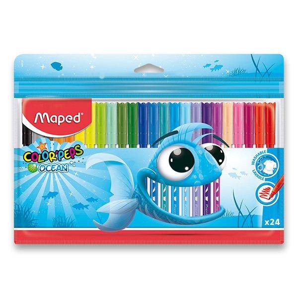 Psací potřeby - Dětské fixy Maped Color´Peps Ocean 24 barev