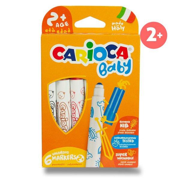 Psací potřeby - Dětské fixy Carioca Super Baby 6 barev