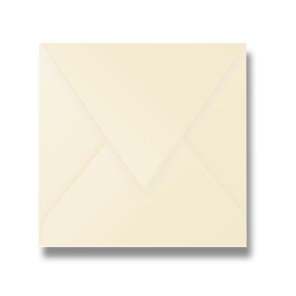 Papír tiskopisy - Barevná obálka Clairefontaine krémová, 165 × 165 mm