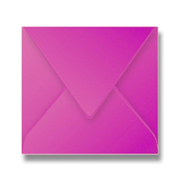 Papír tiskopisy - Barevná obálka Clairefontaine růžová, 165 × 165 mm