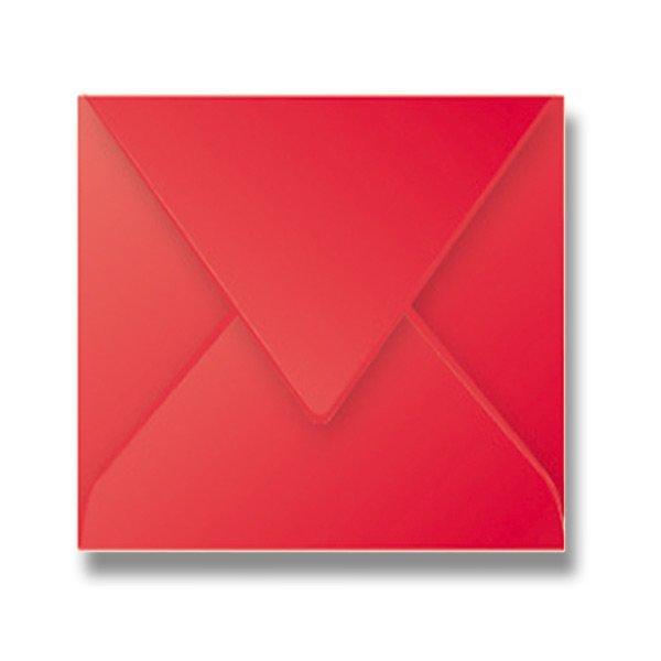 Papír tiskopisy - Barevná obálka Clairefontaine červená, 165 × 165 mm