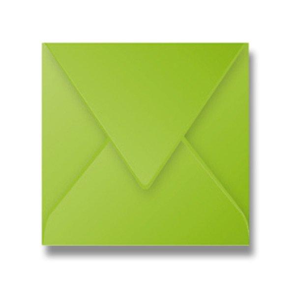 Papír tiskopisy - Barevná obálka Clairefontaine zelená, 165 × 165 mm