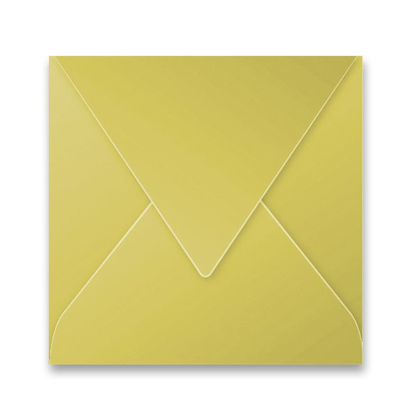Papír tiskopisy - Barevná obálka Clairefontaine zlatá, 165 × 165 mm