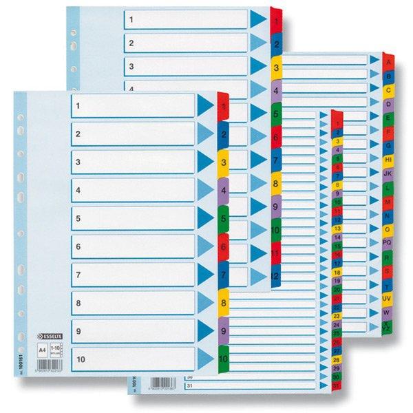 Třídění a archivace - Rozlišovač Esselte Mylar 1 - 12, 12 listů