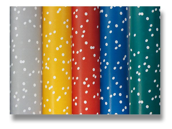 Obalový materiál drogerie - Dárkový balicí papír Alliance Irregular dots 2 x 0,7 m, mix barev