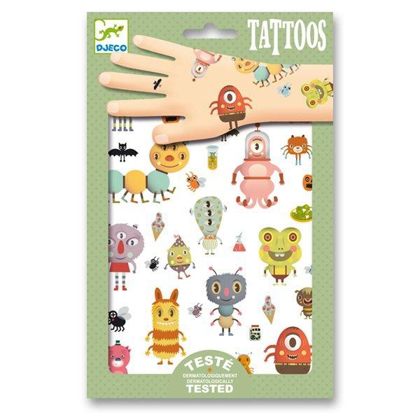 Školní a výtvarné potřeby - Tetování Djeco Malé příšery