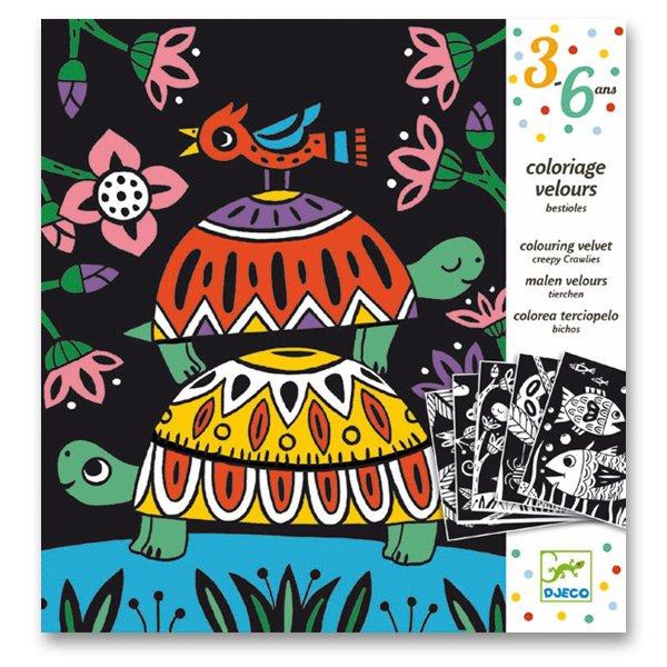 Školní a výtvarné potřeby - Sametové malování Djeco - Na souši i ve vodě