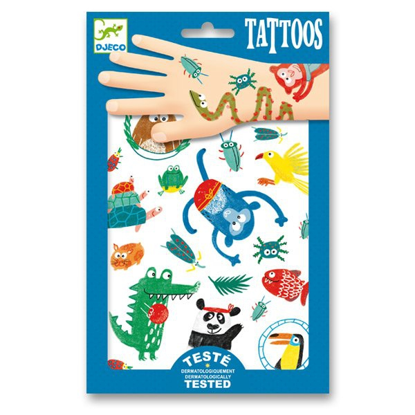 Školní a výtvarné potřeby - Tetování Djeco V jungli
