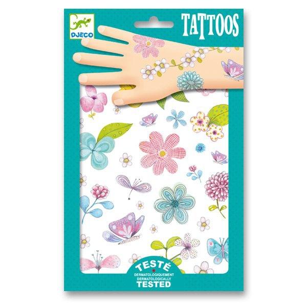 Školní a výtvarné potřeby - Tetování Djeco Květiny